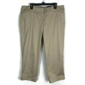 Avenue Womens Pants Size 16 Tan Capri Crop NEW